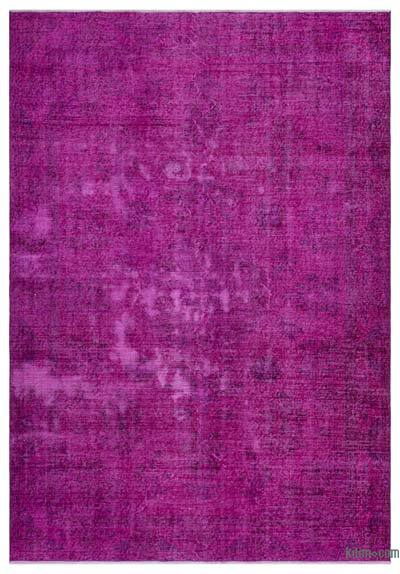 "Over-dyed Turkish Vintage Rug - 6' 2"" x 8' 10"" (74 in. x 106 in.)"