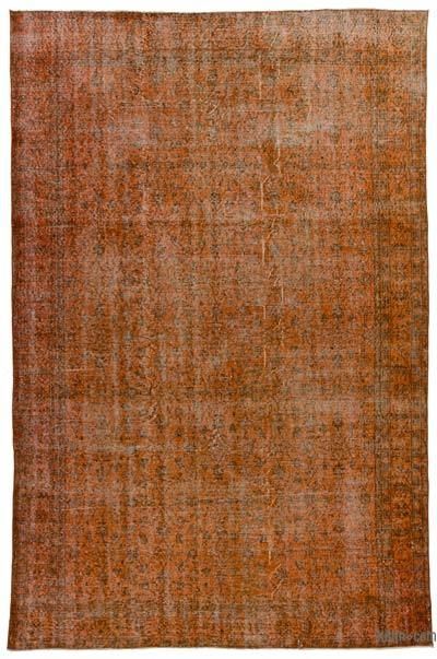 "Over-dyed Turkish Vintage Rug - 6' 8"" x 10' 5"" (80 in. x 125 in.)"