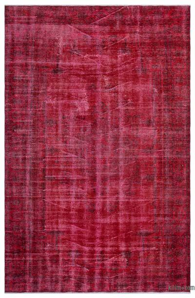 Alfombra Turca Vintage Sobre-teñida - 180 cm x 277 cm