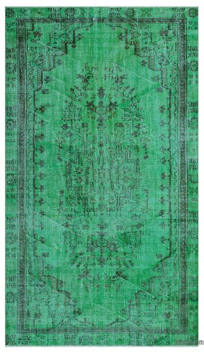 """Over-dyed Turkish Vintage Rug - 5'1"""" x 8'10"""" (61 in. x 106 in.)"""
