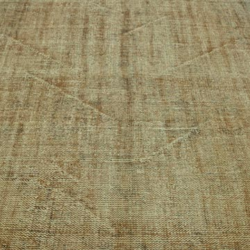 """Brown Over-dyed Turkish Vintage Rug - 5' 11"""" x 9'  (71 in. x 108 in.) - K0030697"""