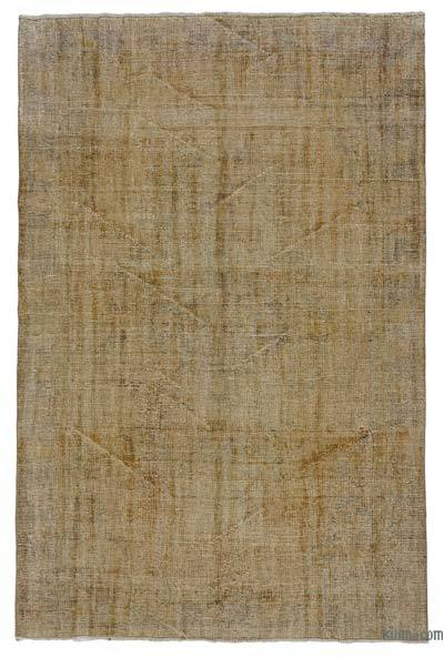 "Over-dyed Turkish Vintage Rug - 5' 11"" x 9'  (71 in. x 108 in.)"