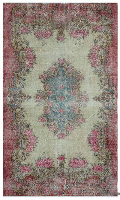 """Turkish Vintage Area Rug - 4'5"""" x 7'7"""" (53 in. x 91 in.)"""