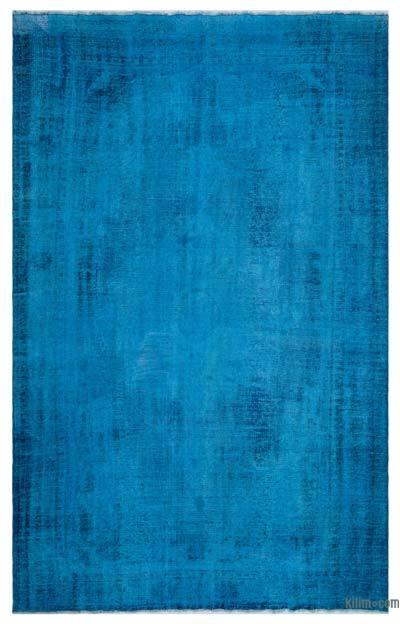 Boyalı El Dokuma Vintage Halı - 204 cm x 330 cm