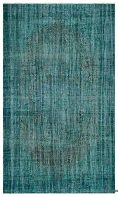 """Over-dyed Turkish Vintage Rug - 6' x 10'2"""" (72 in. x 122 in.)"""
