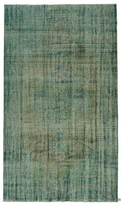 Boyalı El Dokuma Vintage Halı - 172 cm x 305 cm