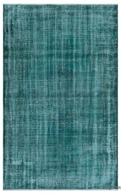 Boyalı El Dokuma Vintage Halı - 130 cm x 210 cm