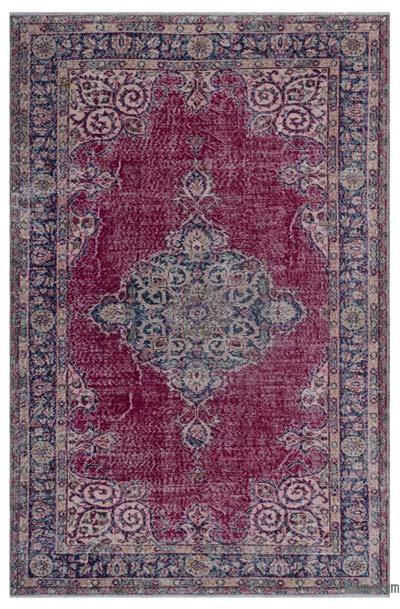 """Turkish Vintage Area Rug - 5'5"""" x 8' (65 in. x 96 in.)"""
