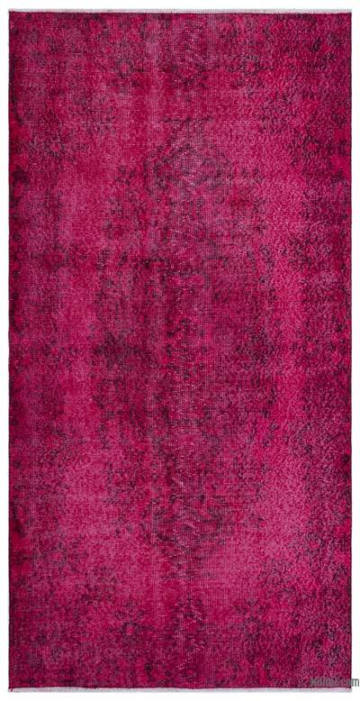 """Over-dyed Turkish Vintage Rug - 3'6"""" x 6'11"""" (42 in. x 83 in.)"""