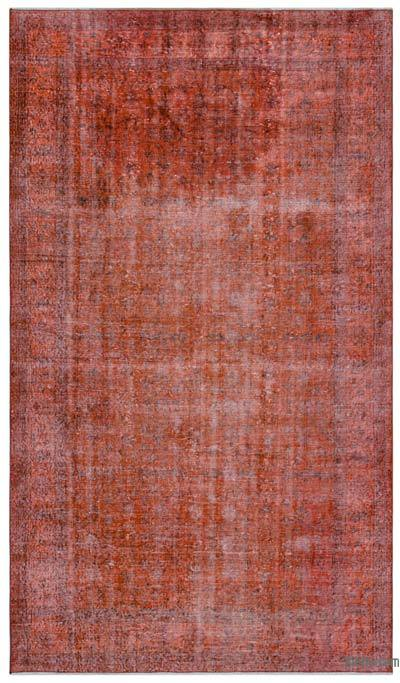 "Over-dyed Turkish Vintage Rug - 5' 4"" x 9' 3"" (64 in. x 111 in.)"