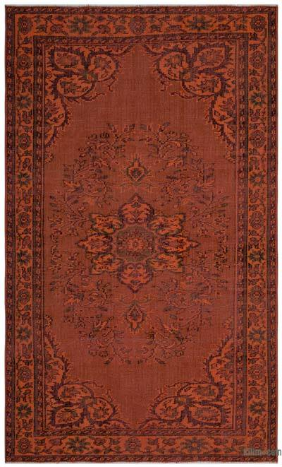 """Over-dyed Turkish Vintage Rug - 5'4"""" x 8'5"""" (64 in. x 101 in.)"""