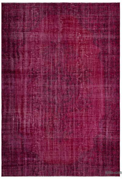 """Over-dyed Turkish Vintage Rug - 6'2"""" x 8'10"""" (74 in. x 106 in.)"""