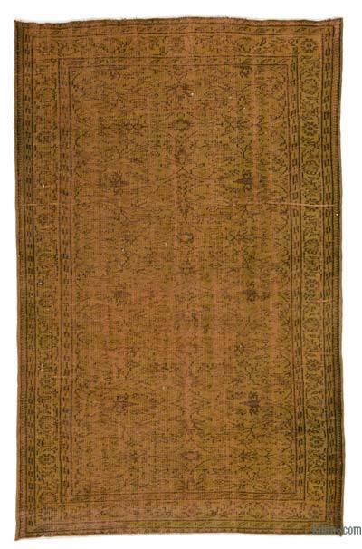 """Over-dyed Turkish Vintage Rug - 5'4"""" x 8'2"""" (64 in. x 98 in.)"""