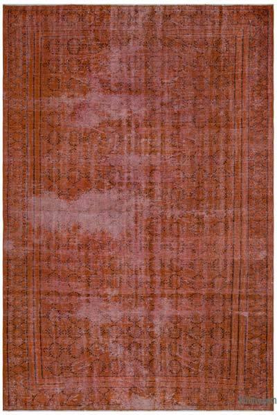 Alfombra Turca Vintage Sobre-teñida - 183 cm x 270 cm