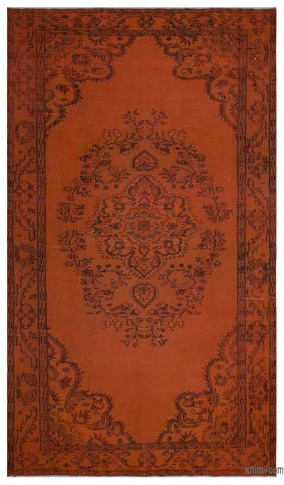 """Over-dyed Turkish Vintage Rug - 5'10"""" x 9'11"""" (70 in. x 119 in.)"""
