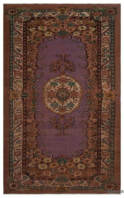 """Turkish Vintage Area Rug - 5' 5"""" x 8' 10"""" (65 in. x 106 in.)"""