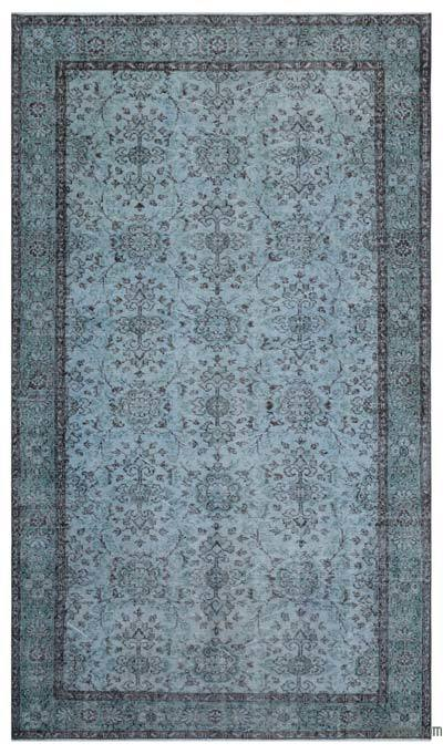 """Over-dyed Turkish Vintage Rug - 5'4"""" x 9'2"""" (64 in. x 110 in.)"""