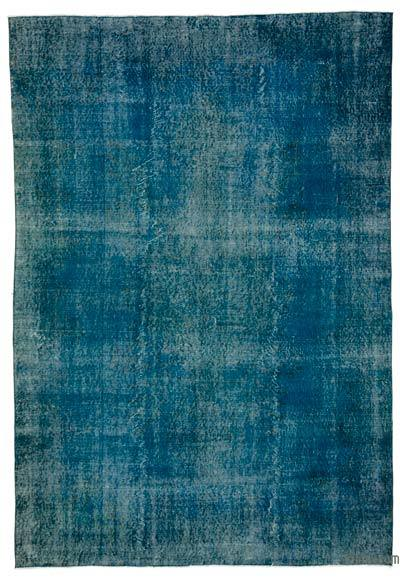 "Over-dyed Turkish Vintage Rug - 6' 8"" x 9' 9"" (80 in. x 117 in.)"