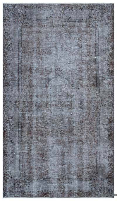 """Over-dyed Turkish Vintage Rug - 4'11"""" x 8'8"""" (59 in. x 104 in.)"""