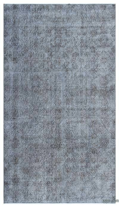"""Over-dyed Turkish Vintage Rug - 4'2"""" x 7'6"""" (50 in. x 90 in.)"""