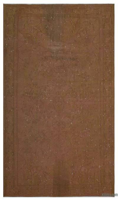Alfombra Turca Vintage Sobre-teñida - 159 cm x 266 cm