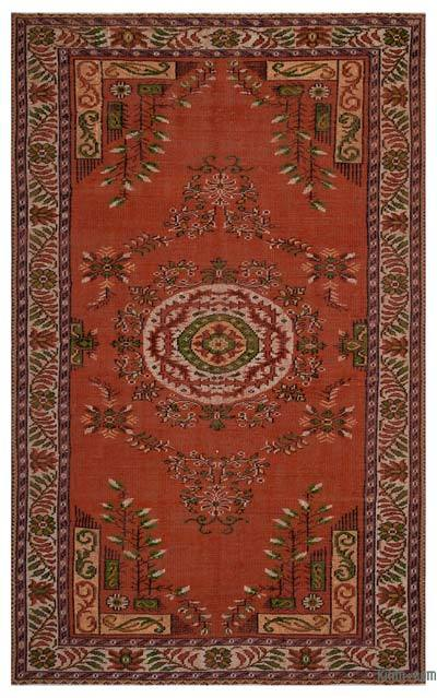 "Turkish Vintage Area Rug - 5'9"" x 9'2"" (69 in. x 110 in.)"