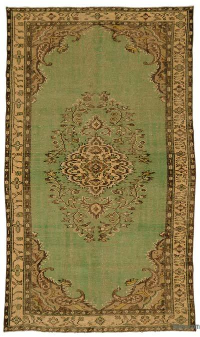 """Turkish Vintage Area Rug - 5' 3"""" x 9' 2"""" (63 in. x 110 in.)"""