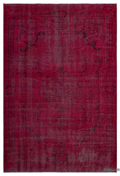 """Over-dyed Turkish Vintage Rug - 4'11"""" x 9'1"""" (59 in. x 109 in.)"""
