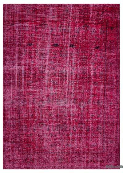 """Over-dyed Turkish Vintage Rug - 6'8"""" x 9'5"""" (80 in. x 113 in.)"""