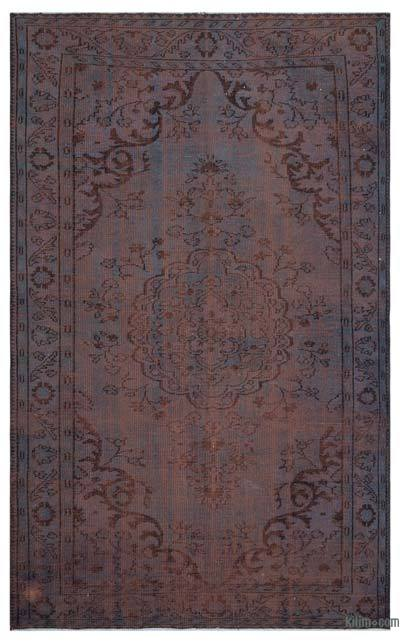 Alfombra Turca Vintage Sobre-teñida - 180 cm x 292 cm