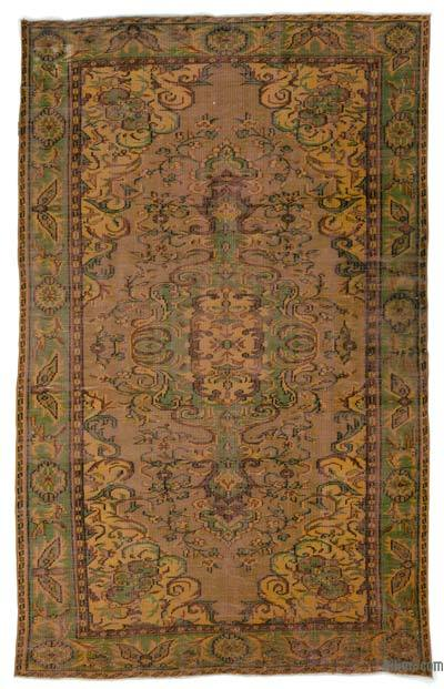 "Over-dyed Turkish Vintage Rug - 5' 8"" x 9' 3"" (68 in. x 111 in.)"