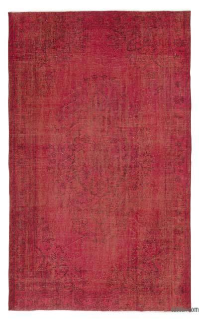Alfombra Turca Vintage Sobre-teñida - 175 cm x 287 cm