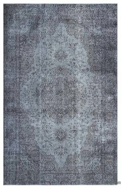 """Over-dyed Turkish Vintage Rug - 5'8"""" x 8'11"""" (68 in. x 107 in.)"""