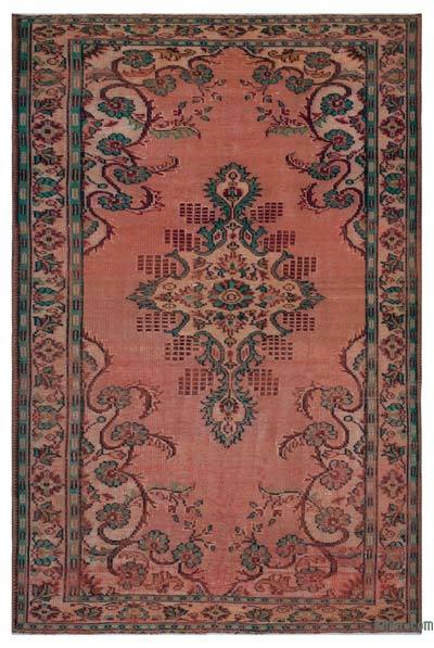 """Turkish Vintage Area Rug - 6'3"""" x 9'4"""" (75 in. x 112 in.)"""