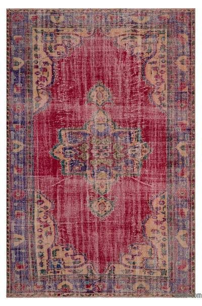 """Turkish Vintage Area Rug - 6'3"""" x 9'2"""" (75 in. x 110 in.)"""