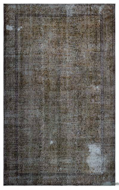 Boyalı El Dokuma Vintage Halı - 173 cm x 284 cm