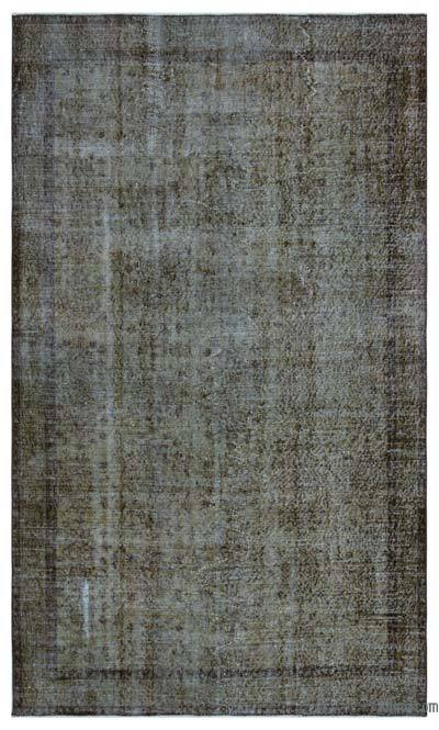 """Over-dyed Turkish Vintage Rug - 5'1"""" x 8'9"""" (61 in. x 105 in.)"""