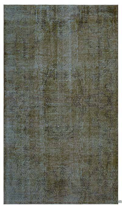 """Over-dyed Turkish Vintage Rug - 5'2"""" x 9' (62 in. x 108 in.)"""