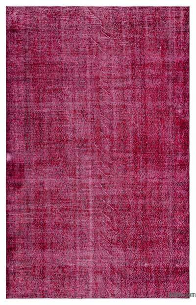 "Over-dyed Turkish Vintage Rug - 5'5"" x 8'8"" (65 in. x 104 in.)"