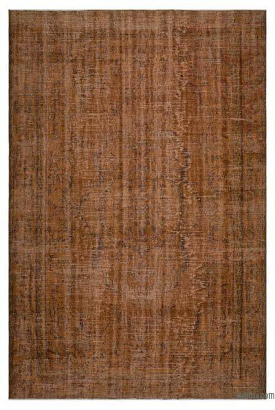 Alfombra Turca Vintage Sobre-teñida - 186 cm x 273 cm