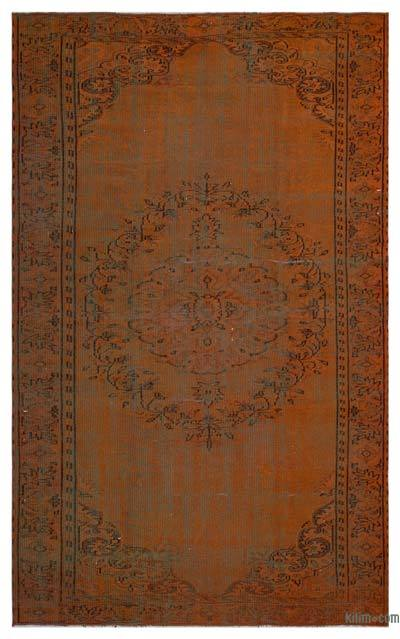 Alfombra Turca Vintage Sobre-teñida - 179 cm x 292 cm