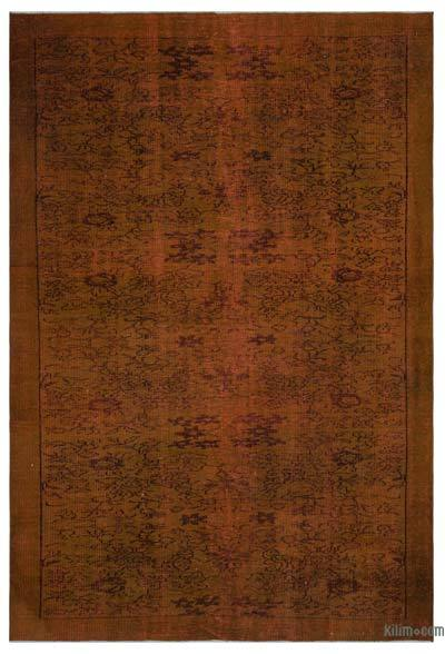 "Over-dyed Turkish Vintage Rug - 6'2"" x 9'1"" (74 in. x 109 in.)"