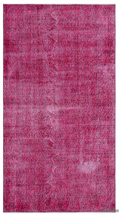 """Over-dyed Turkish Vintage Rug - 3'8"""" x 6'9"""" (44 in. x 81 in.)"""