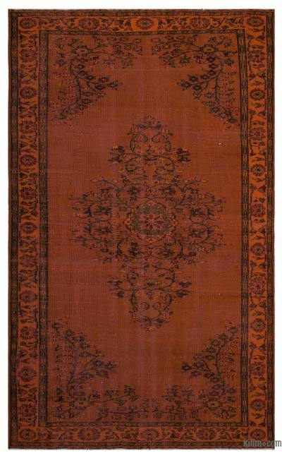 "Over-dyed Turkish Vintage Rug - 5'10"" x 9'8"" (70 in. x 116 in.)"