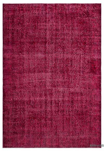 """Over-dyed Turkish Vintage Rug - 5'5"""" x 7'11"""" (65 in. x 95 in.)"""