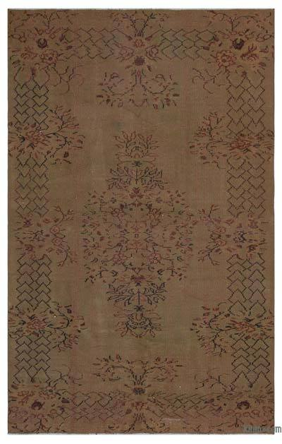 "Over-dyed Turkish Vintage Rug - 5'3"" x 8'4"" (63 in. x 100 in.)"