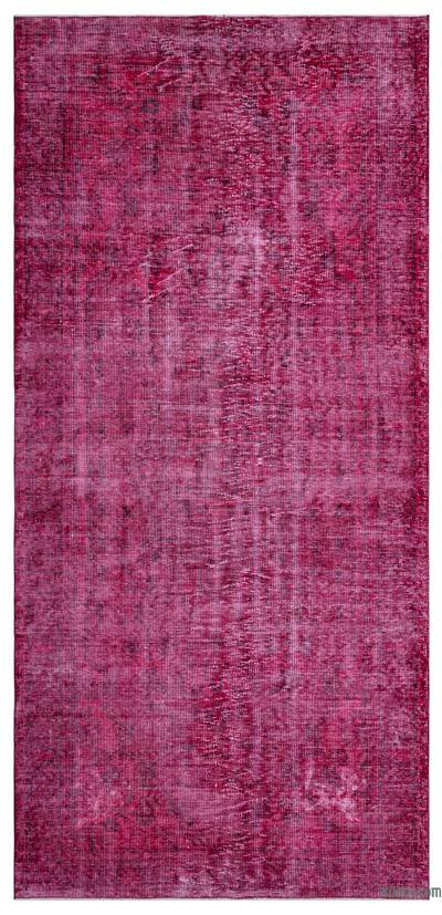 """Over-dyed Turkish Vintage Rug - 4'11"""" x 10'4"""" (59 in. x 124 in.)"""