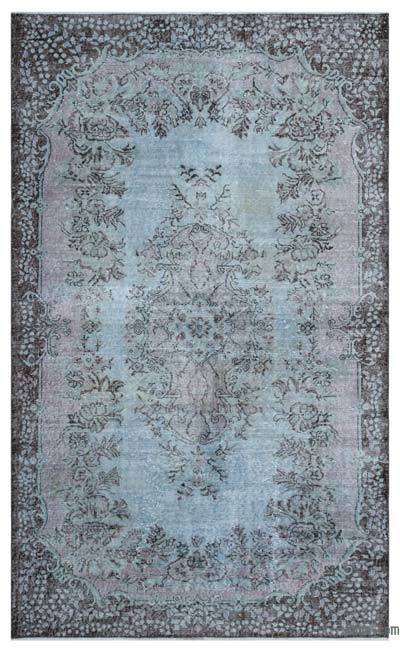 """Over-dyed Turkish Vintage Rug - 5'9"""" x 9'7"""" (69 in. x 115 in.)"""