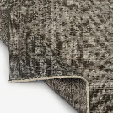 """Grey Over-dyed Turkish Vintage Rug - 6' 2"""" x 9' 3"""" (74 in. x 111 in.) - K0031018"""