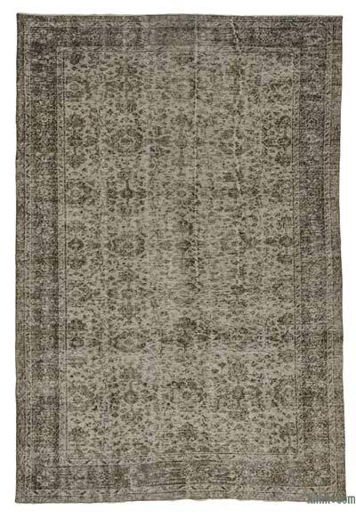"Over-dyed Turkish Vintage Rug - 6' 2"" x 9' 3"" (74 in. x 111 in.)"